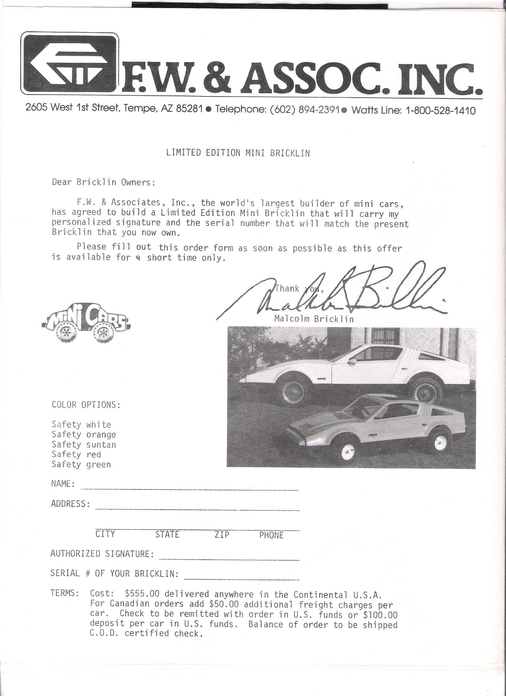 Mini Bricklin Page 1